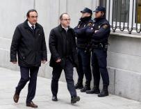 Jordi Turull y Josep Rull a su llegada al Tribunal Supremo