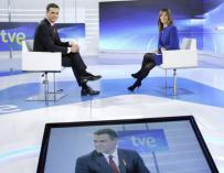 El presidente del Gobierno, Pedro Sánchez, durante una entrevista en RTVE.