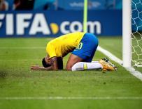 Neymar, hundido