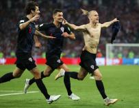 El croata Vida celebra uno de los goles logrados en el encuentro frente a Rusia en Sochi el 7 de julio (EFE/EPA/FRIEDEMANN VOGEL)