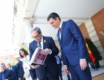 Pedro Sánchez y Torra en Moncloa.