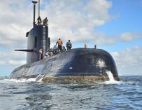 Fotografía sin fecha cedida por la Armada Argentina que muestra el ARA San Juan, el submarino de la Armada desaparecido. (Armada Argentina / EFE)
