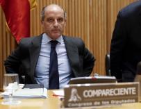Francisco Camps durante su comparecencia ante la Comisión de Investigación