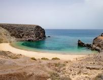 Playa de Papagayo, en Lanzarote.