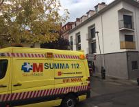 Una ambulancia del SUMMA 112 en otra intervención