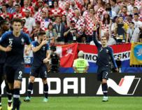 Griezmann celebra el gol