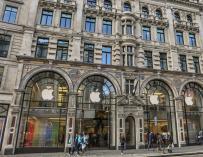 La tienda de Apple en la Puerta del Sol.