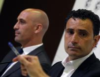 Molina, durante la rueda de prensa de la Federación.