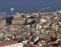 Imagen panorámica de Nápoles.