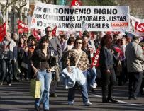 Imagen de una manifestación de funcionarios CCOO