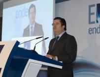 El presidente de Endesa, Borja Prado, en una presentación.