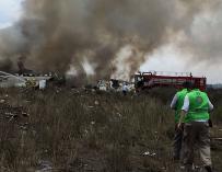 Un avión con 103 personas a bordo se estrella en el norte de México