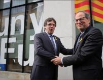 El expresidente Carles Puigdemont y el presidente Quim Torra