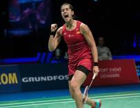 Carolina Marín, en el Campeonato de Europa de 2018 disputado en Huelva