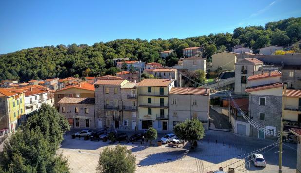 Fotografía del pueblo de Ollolai.