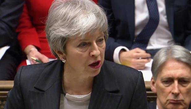 Theresa May en el Parlamento británico