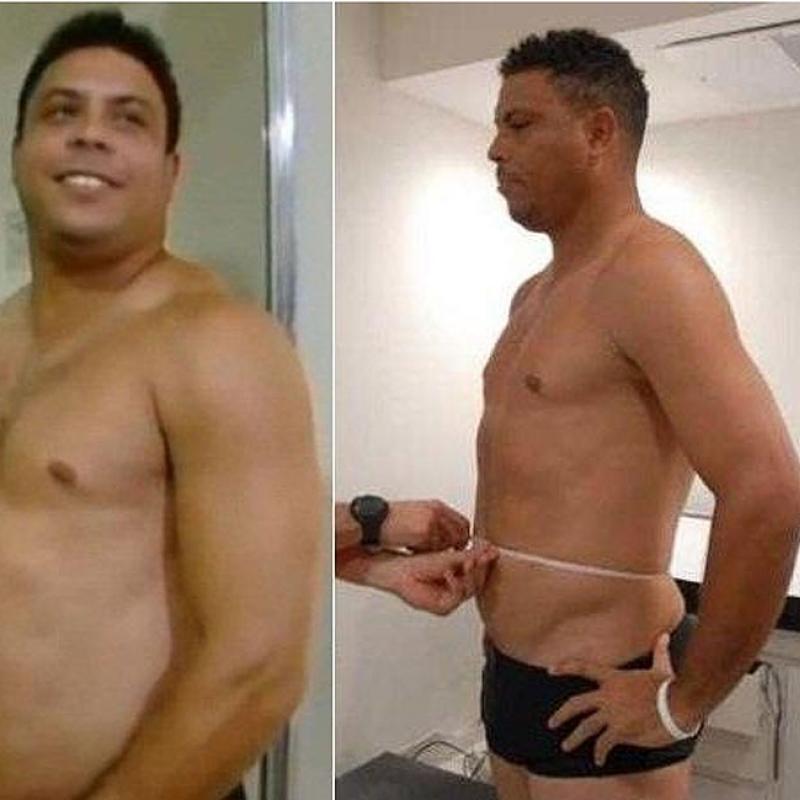 Jugadores de futbol antes y despues de adelgazar