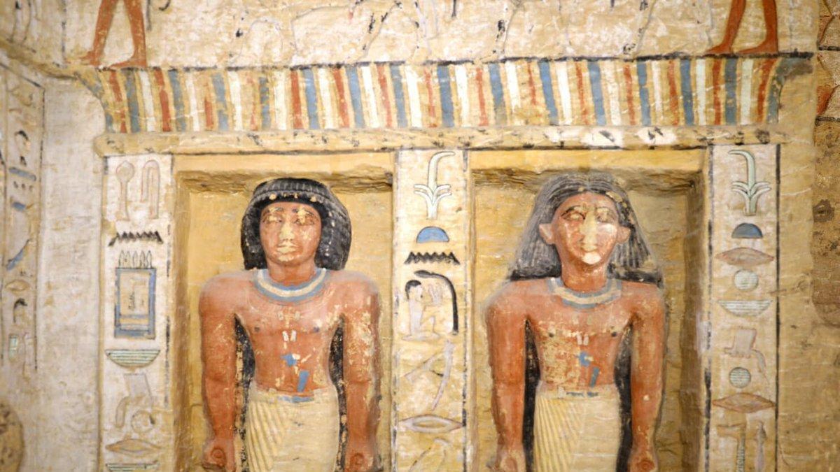 Hallan en Egipto la tumba preservada de un sacerdote de hace más de 4.400 años