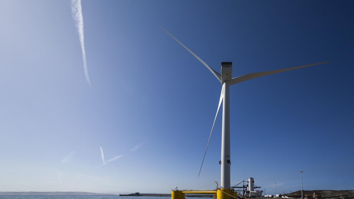 El proyecto de eólica flotante de Repsol ya suministra energía 'verde' en Portugal