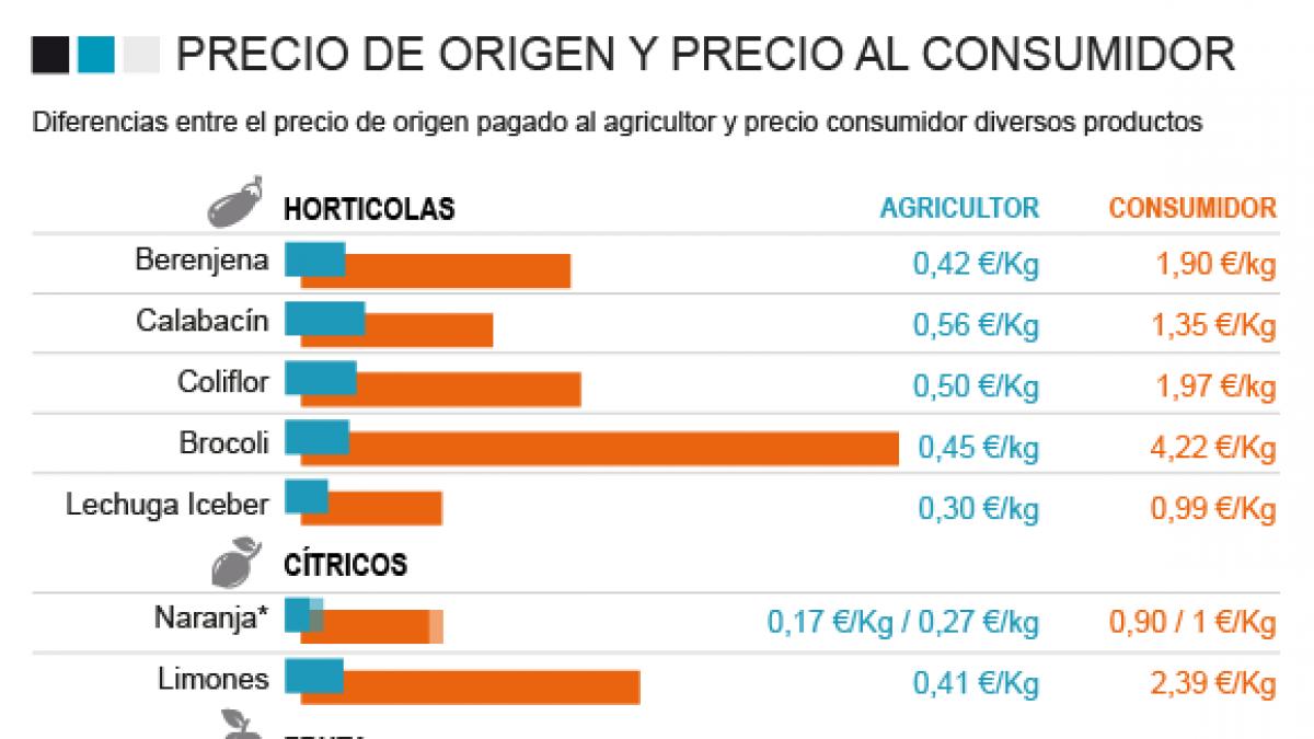 Historia de un brócoli: de 0,45 euros el kilo en origen, a 4,22 en el supermercado