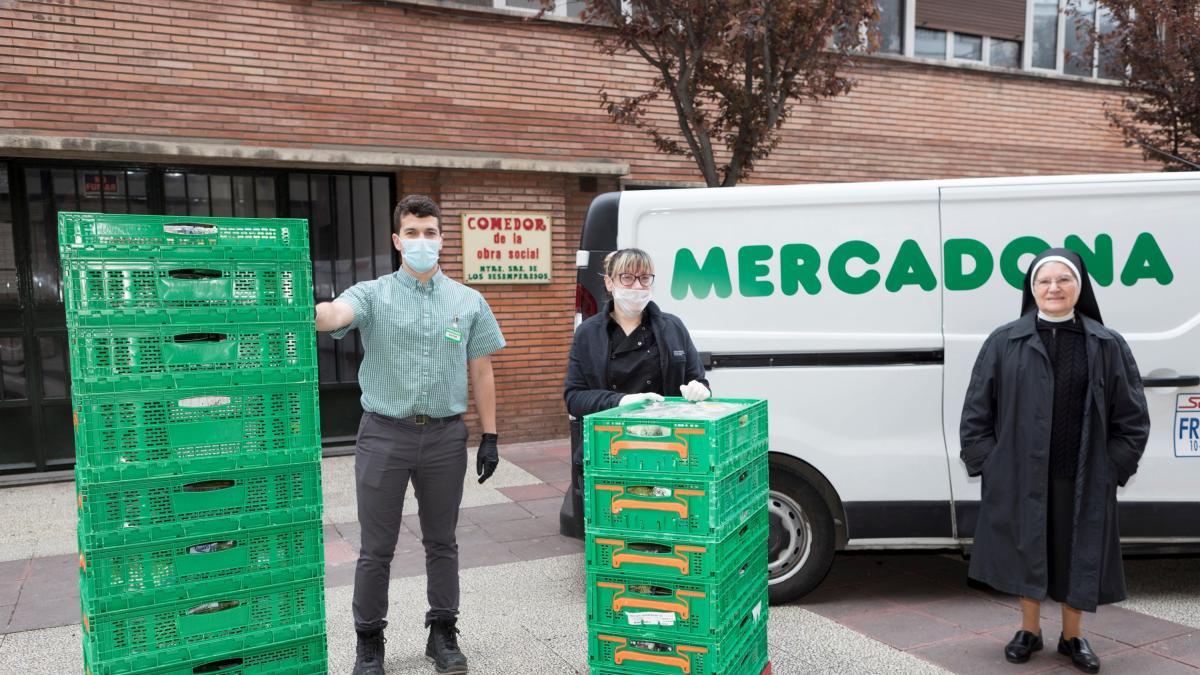 Mercadona y Cruz Roja, aliados contra el virus: camiones de comida en plena crisis